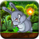 Bunny Jungle Jump & Fire Throw - Jumping Rabbit & Flying Burning Ball Free